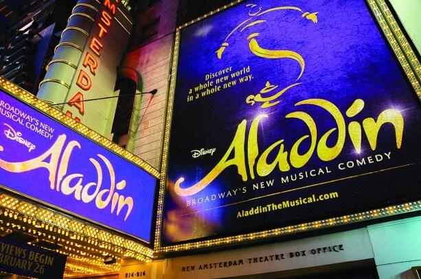 Aladdin at the New Amsterdam Theatre in New York City