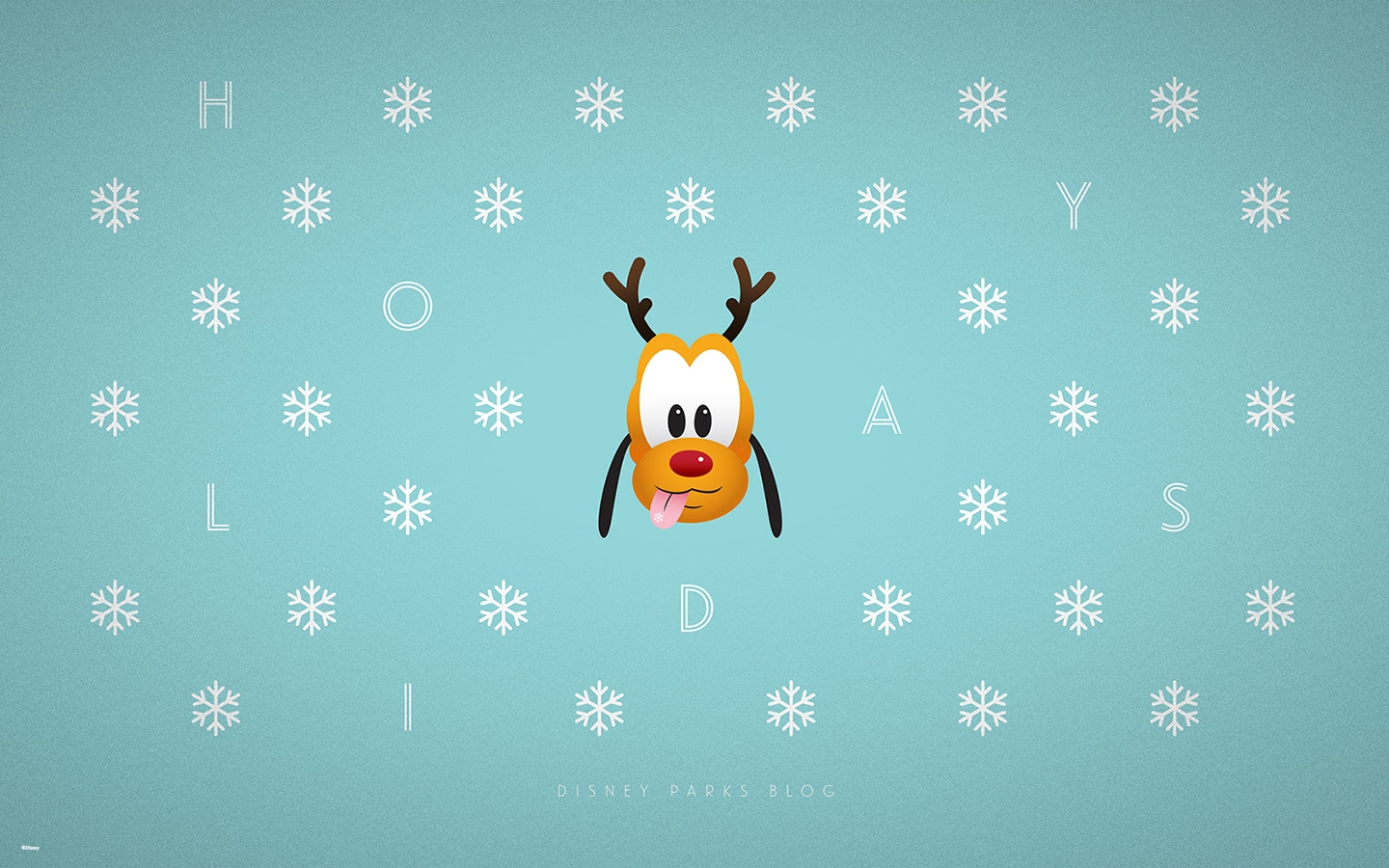 Disney Parks Blog Pluto Holiday Wallpaper