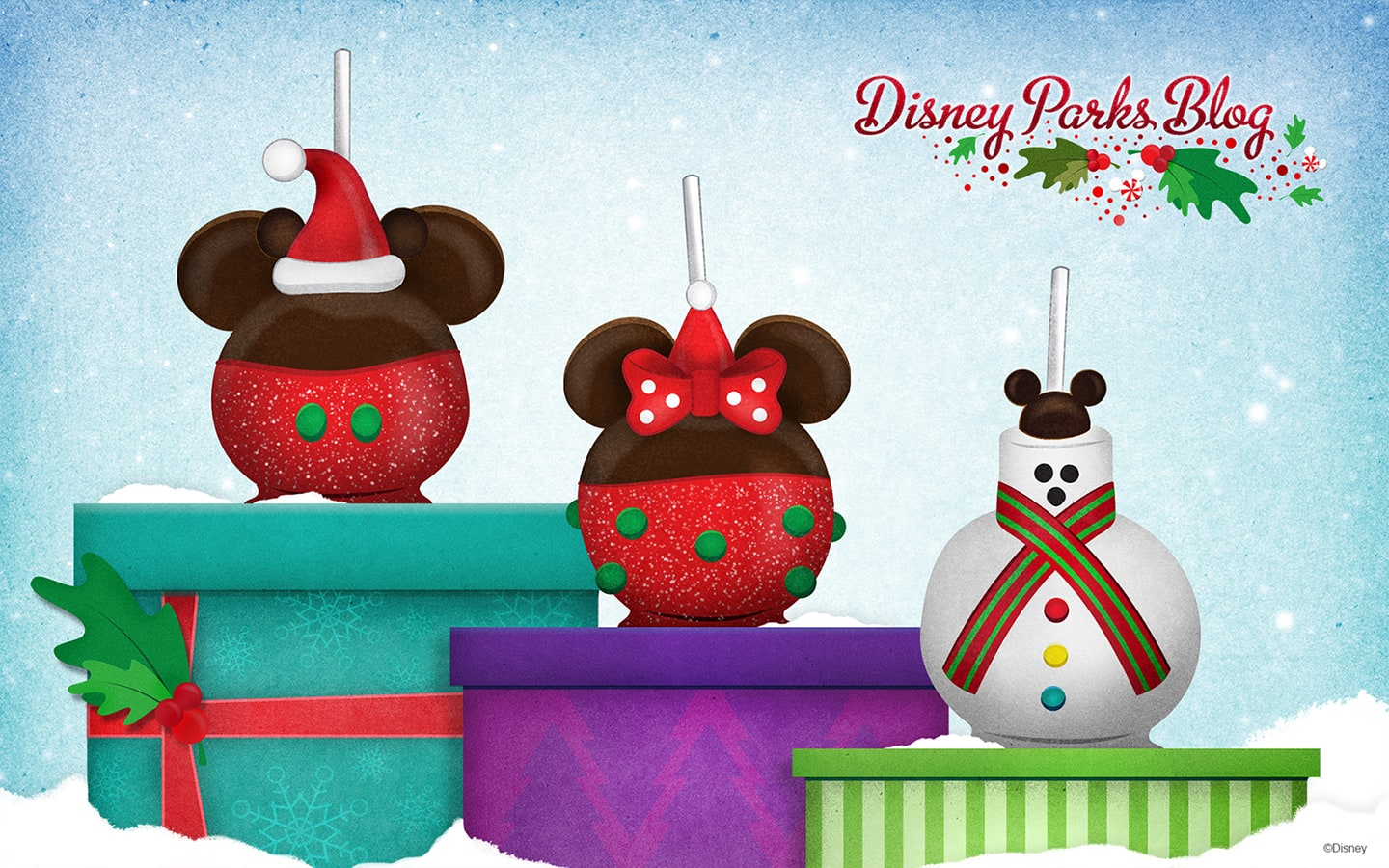 Disney Holidays Candy Apples Wallpaper