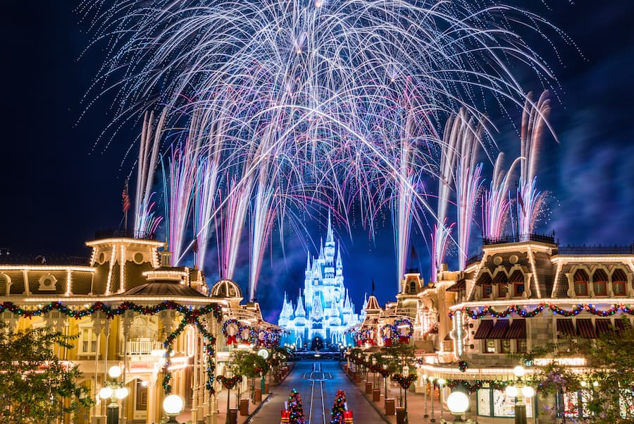 11 Photos Of 'Holiday Wishes' Fireworks at Magic Kingdom Park