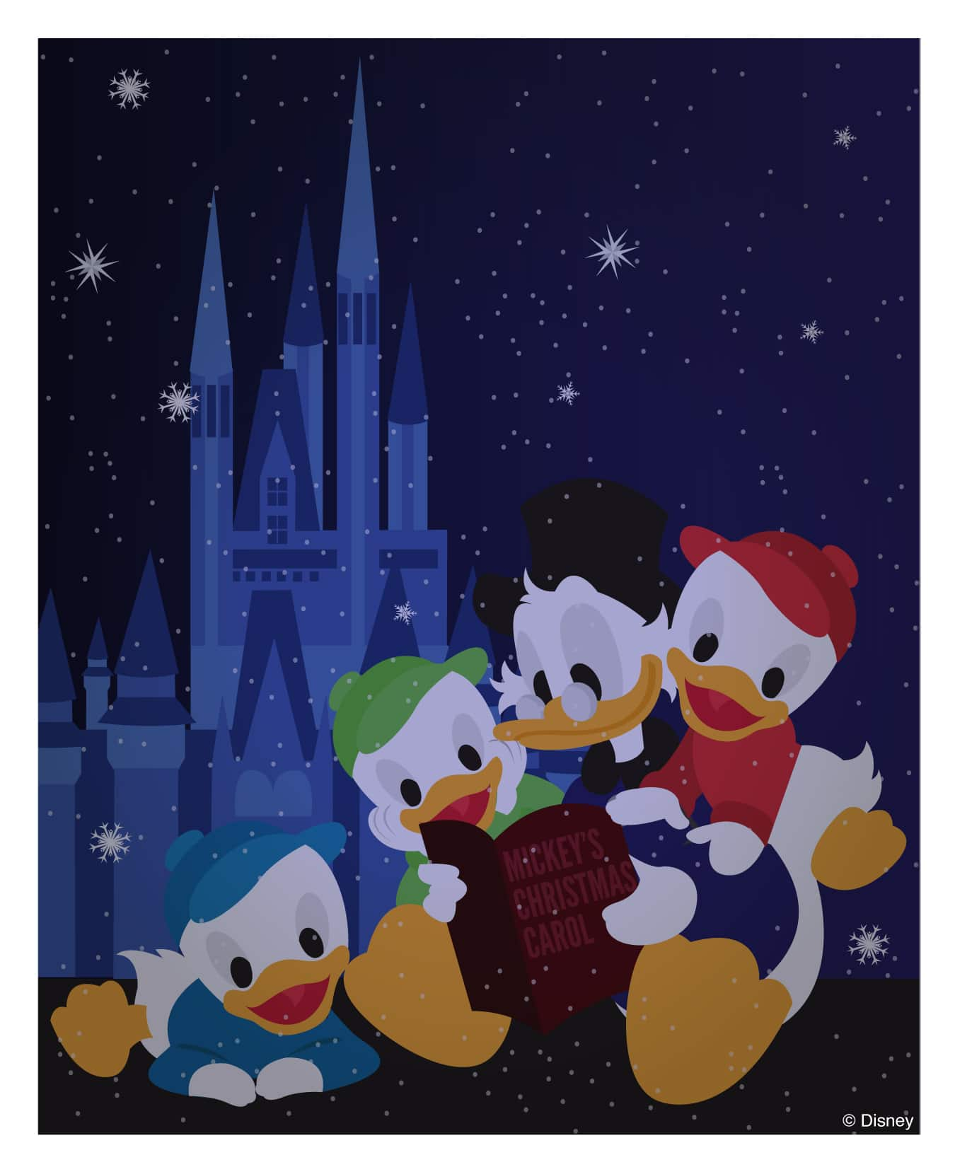 disney doodle enjoying mickeys christmas carol at magic kingdom park - Mickeys A Christmas Carol