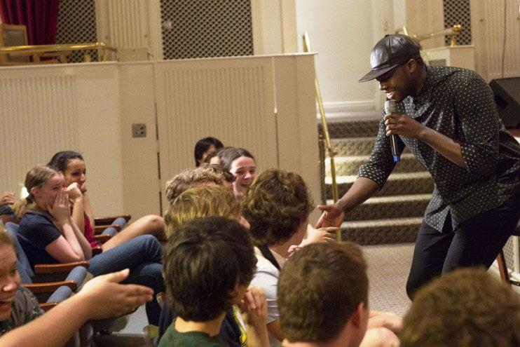 Grammy-Winning Pentatonix Star Makes Surprise Visit at Disney Performing Arts Workshop