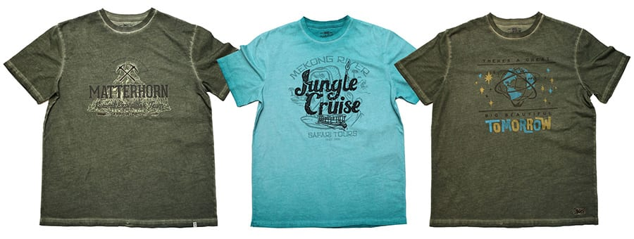 Matterhorn Bobsleds, Jungle Cruise and Walt Disney's Carousel of Progress Shirts