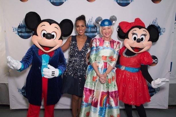Mickey Mouse, Kerry Washington, Helen Mirren, Minnie Mouse