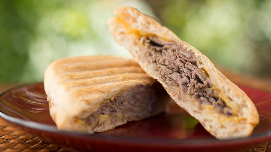 Roast Beef with Smoked Tillamook Cheddar Panini at Kusafari Coffee Shop and Bakery at Animal Kingdom at Walt Disney World