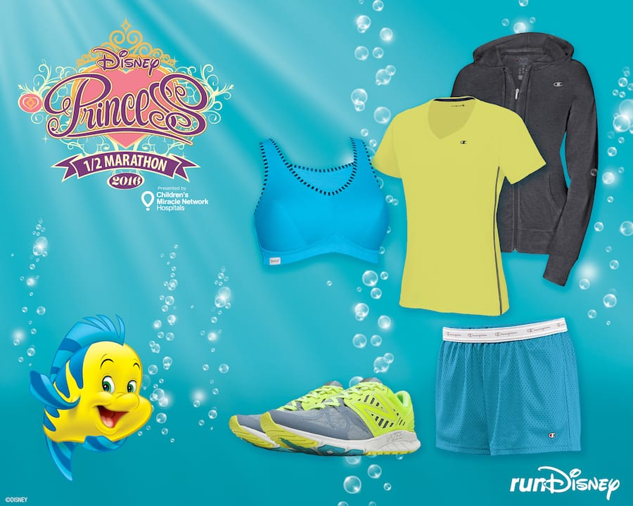 8892ebcbeab0d Flounder-Inspired Outfit from Champion and New Balance Perfect for the Disney  Princess Half Marathon
