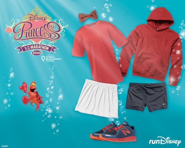 Sebastian-Inspired Outfit from Champion and New Balance Perfect for the Disney Princess Half Marathon Weekend