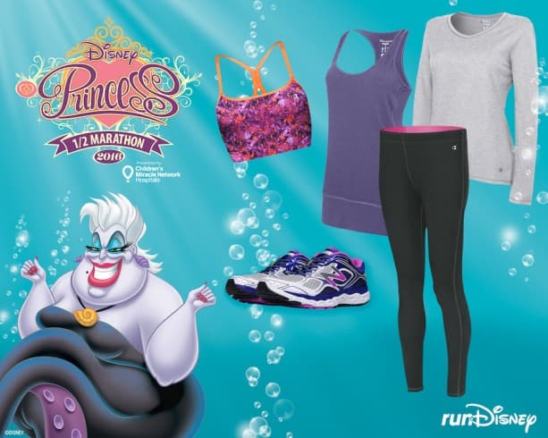 Ursula-Inspired Outfit from Champion and New Balance Perfect for the Disney Princess Half Marathon Weekend