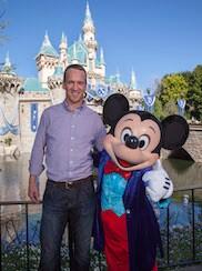 Peyton Manning Celebrates Super Bowl Win at Disneyland Resort