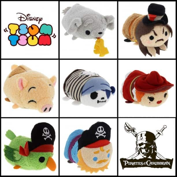 irates of the Caribbean Tsum Tsums Will Coming to Disney Parks February 26