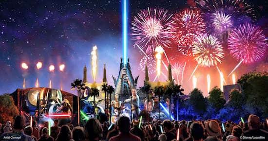 New Star Wars Nighttime Spectacular Announced, Set to Make Theme Park History
