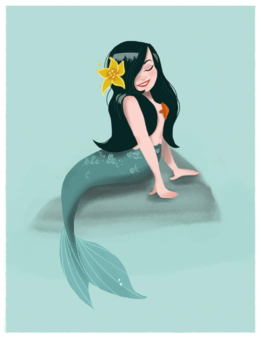Mermaid Art by Ann Shen at April's Disneyland Resort Merchandise Event 2016