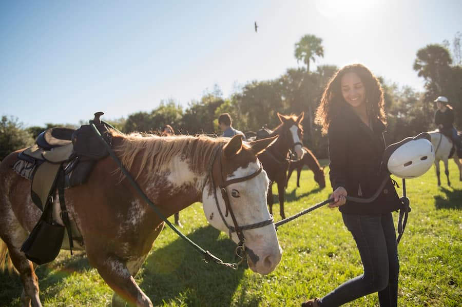 Horseback riding on the Adventures by Disney Central Florida vacation