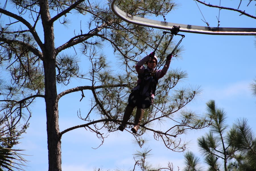 Zipline roller coaster on the Adventures by Disney Central Florida vacation