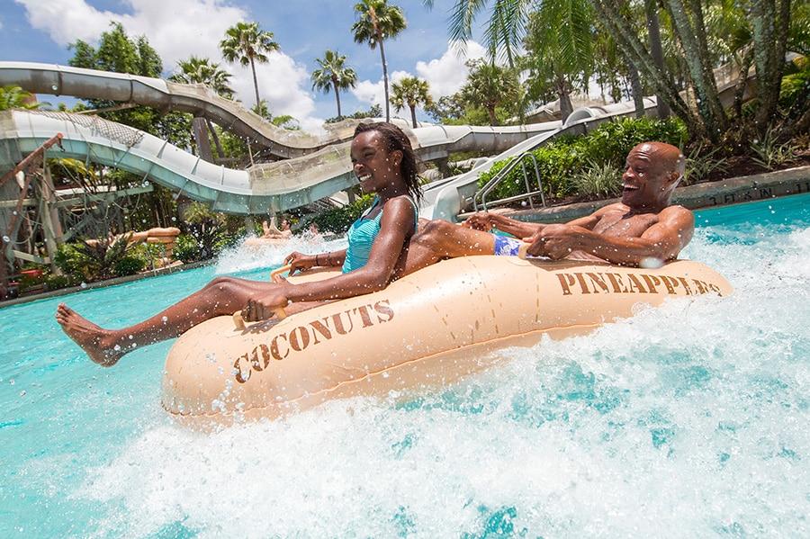 Crush 'n' Gusher Raft Ride at Disney's Typhoon Lagoon Water Park at Walt Disney World