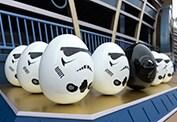Darth Vader and Storm Trooper in the Disney Character Egg Hunt at Hong Kong Disneyland