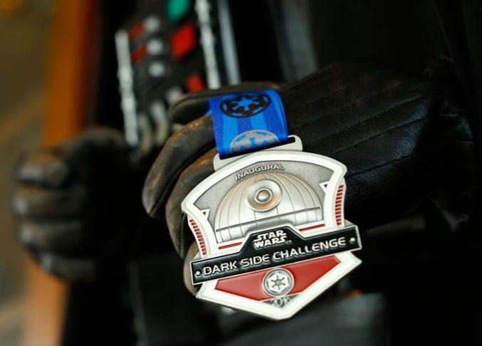 Star Wars Dark Side Challenge Death Star-themed medal