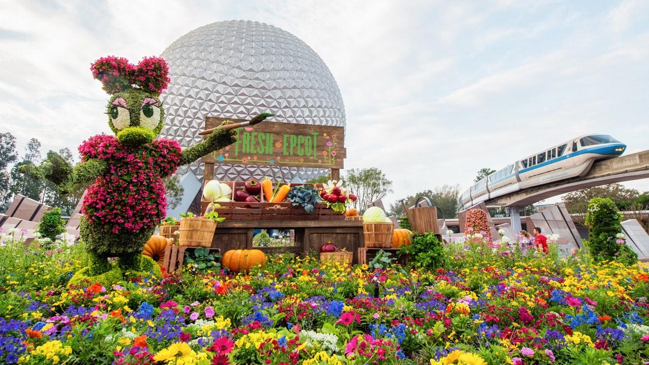 epcot international flower & garden festival topiary photos from