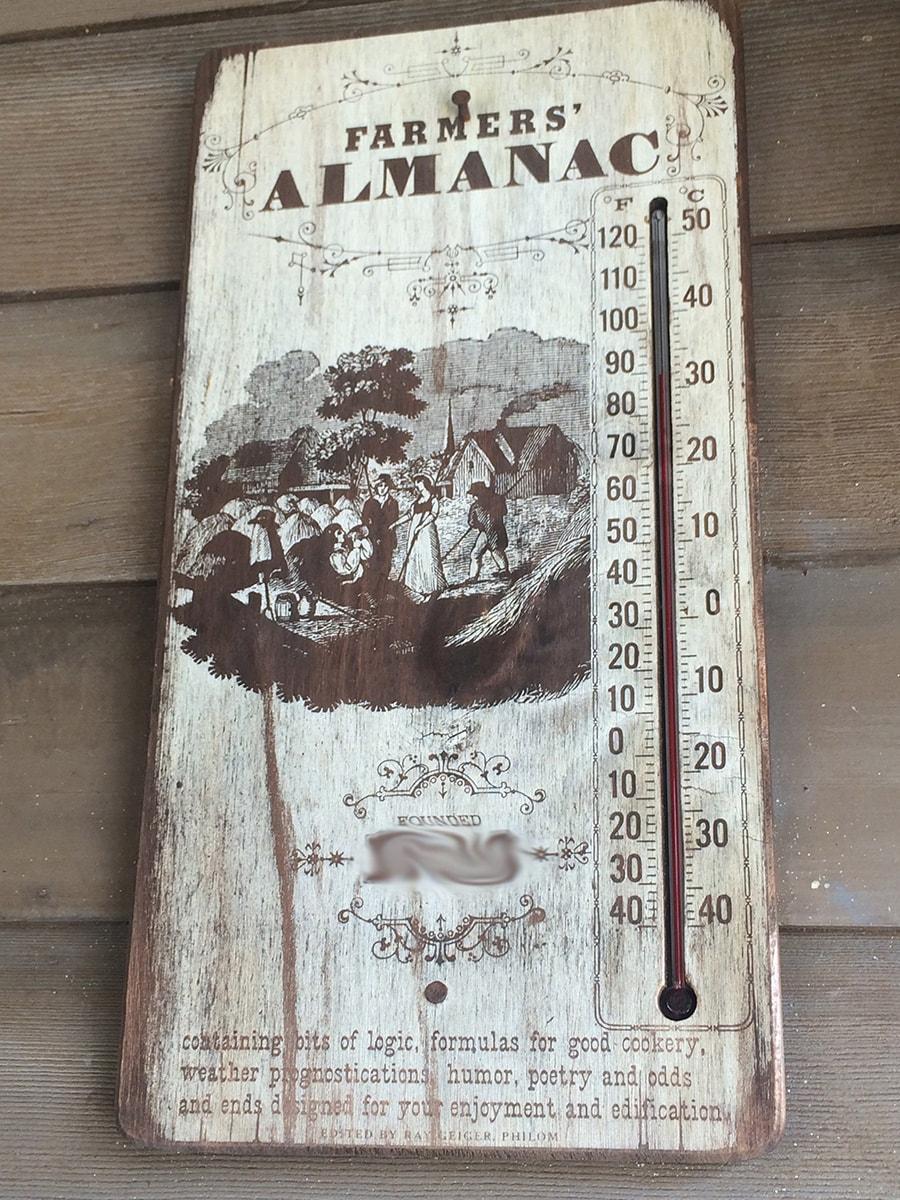 Farmers' Almanac at Tom Sawyer Island at Magic Kingdom Park at Walt Disney World
