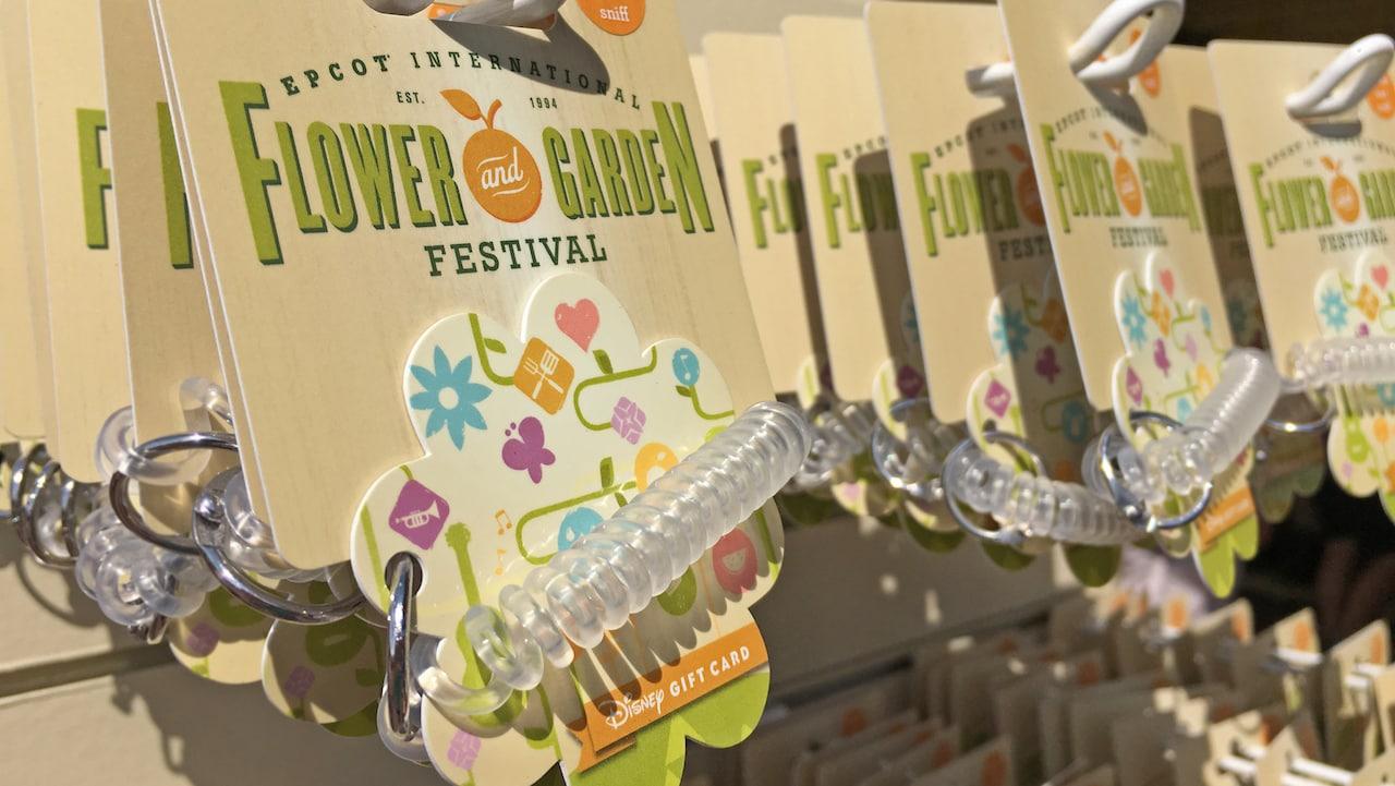 New Epcot International Flower Garden Festival Themed Disney Gift Card Now Scented Disney Parks Blog