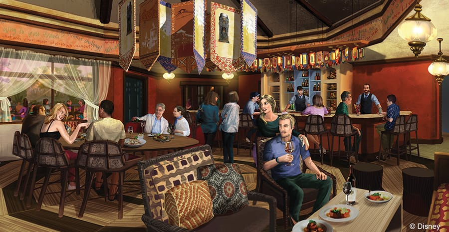 Finished Nomad Lounge at Tiffins at Disney's Animal Kingdom at Walt Disney World Resort