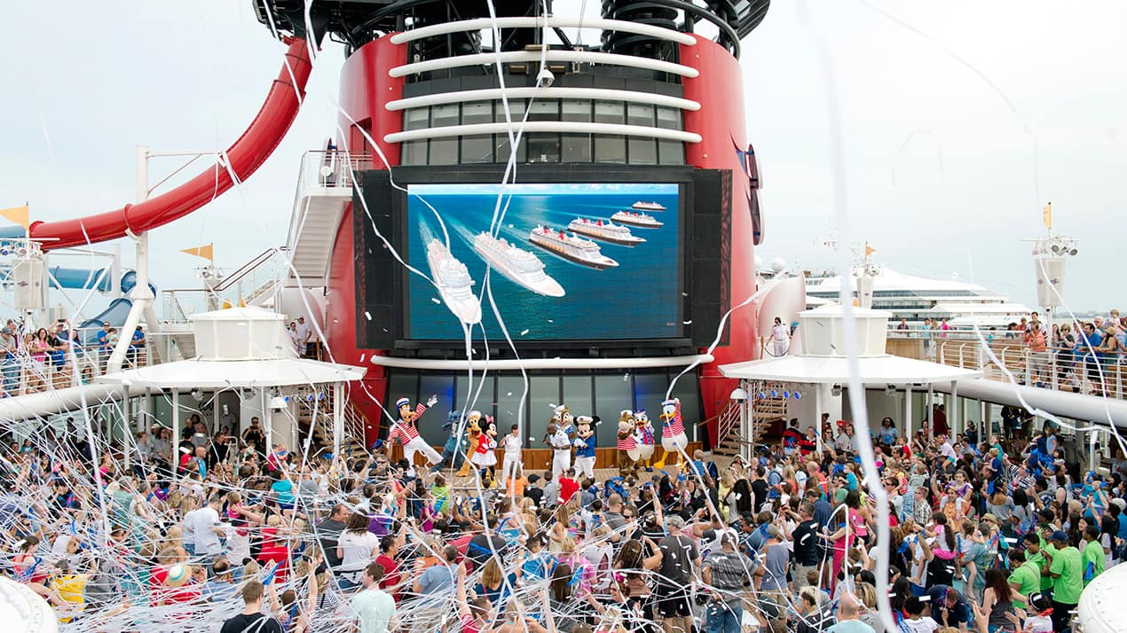 Disney Cruise Line Guests Celebrate New Ship Announcements Onboard The Disney Magic Disney Parks Blog