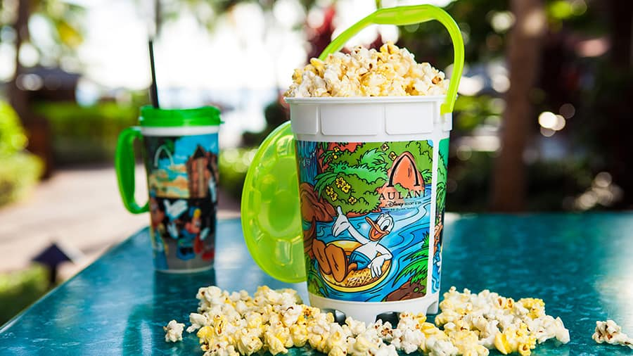 Aloha All Day at Aulani, a Disney Resort & Spa: Popcorn Bucket from Ulu Cafe