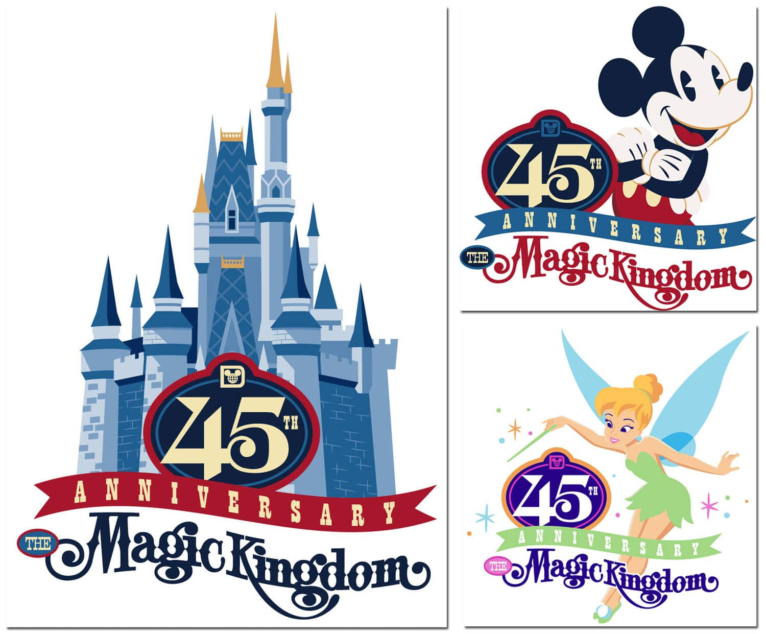 First Look at Magic Kingdom 45th Anniversary Merchandise Artwork