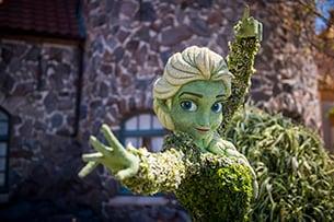 Elsa Topiary at The Epcot International Flower & Garden Festival