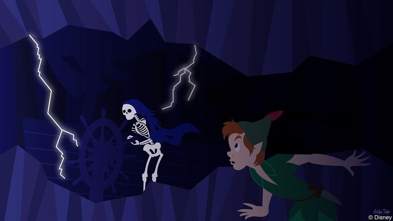 Disney Doodle: Peter Pan Encounters Pirates