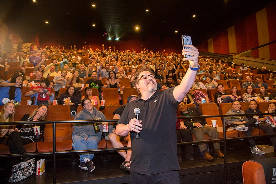 "Jon Favreau Surprises Guests at ""The Jungle Book"" Screening"