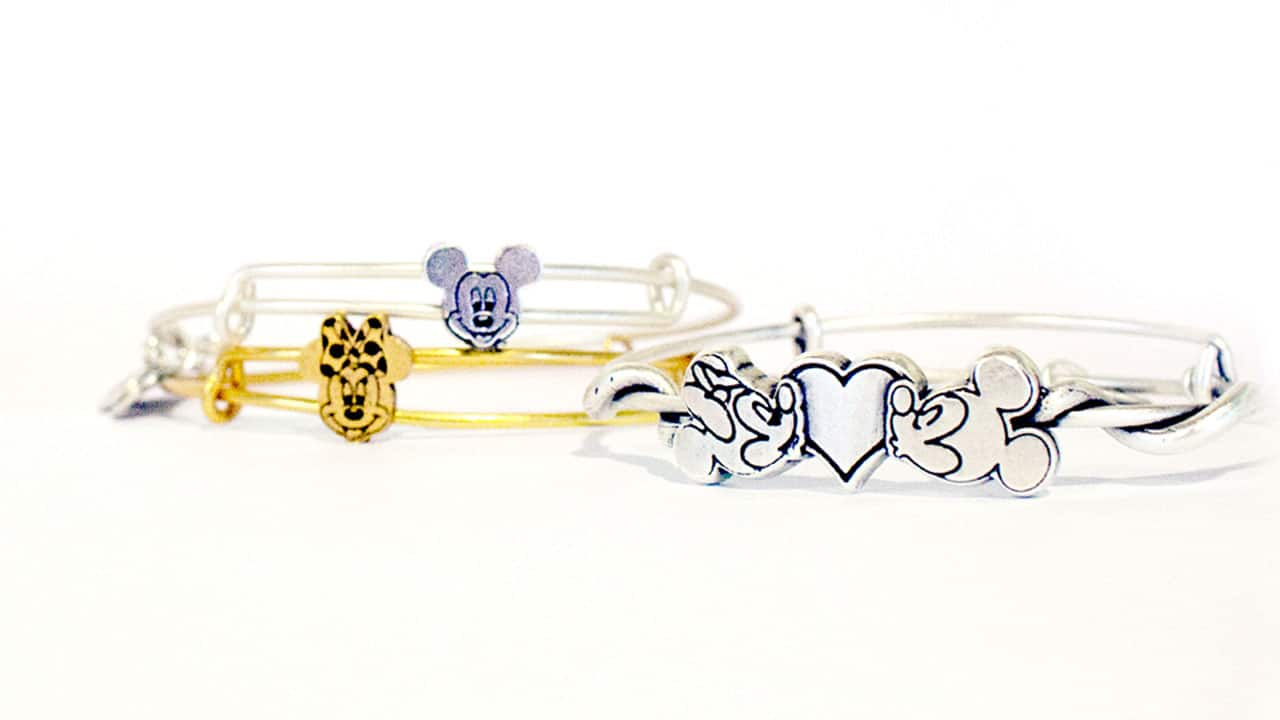 Three Dimensional Slider Charms Of Mickey Mouse And Minnie By Alex Ani
