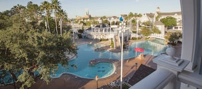 The View Of Stormalong Bay Pool From Room 4685 At Disney S Beach Club Resort