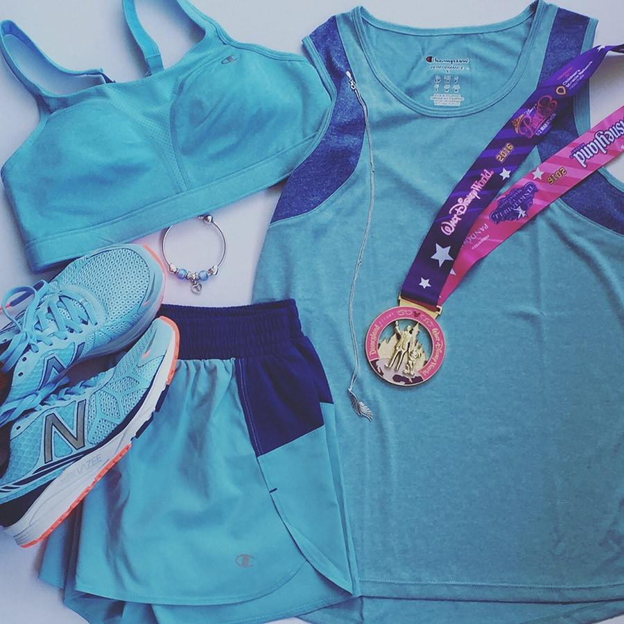 Wendy Darling Inspired Blue Outift at the runDisney Tinker Bell Half Marathon