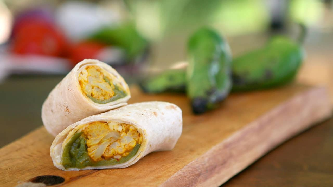 Roasted Vegetable Burrito from Disney California Adventure Food & Wine Festival