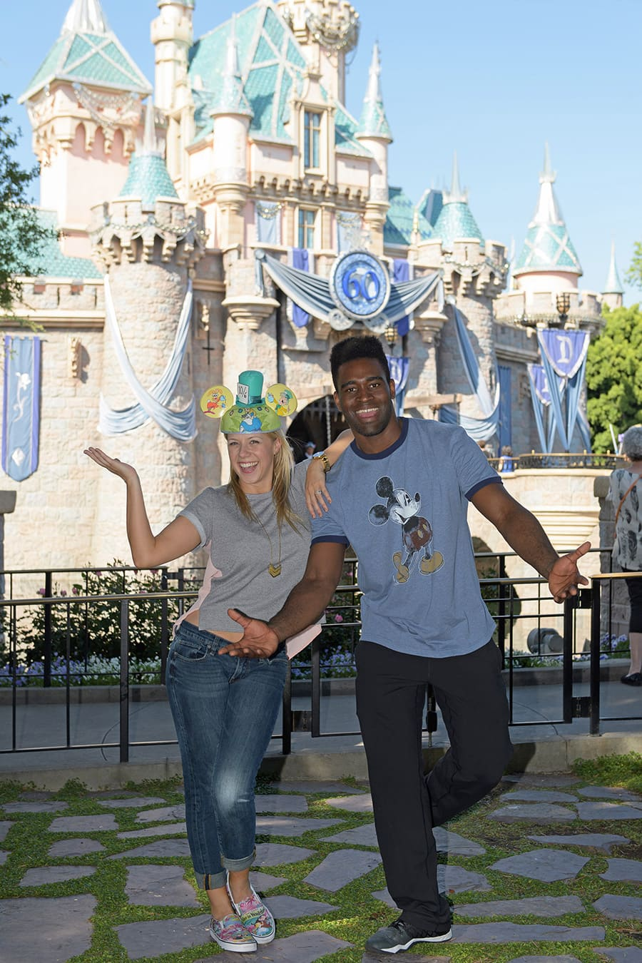 Dancing with the Stars Contestants Jodie Sweetin and Keo Motsepe at Disneyland Resort