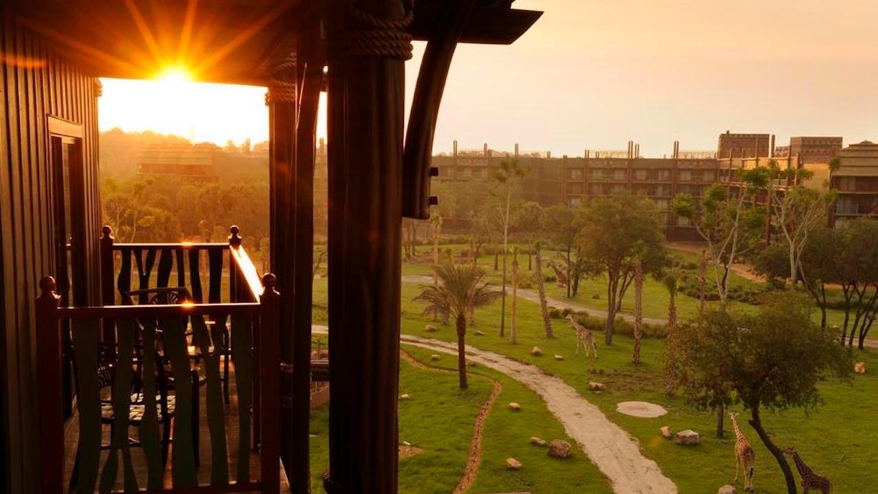 A Beautiful Sunrise at Disney's Animal Kingdom Lodge