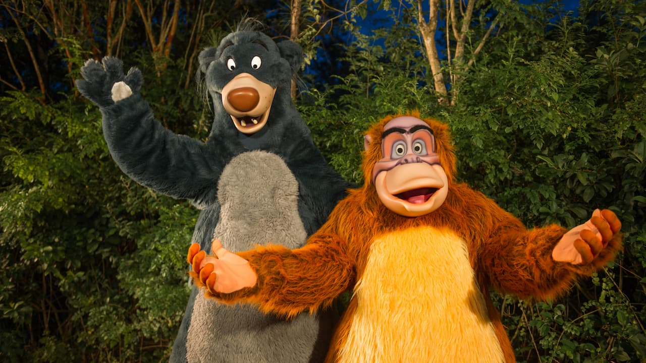 Baloo and King Louie at Disney's Animal Kingdom