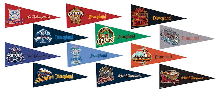 March Magic Commemorative Pennants Available on the the Shop Disney Parks Mobile App Starting Friday, April 8