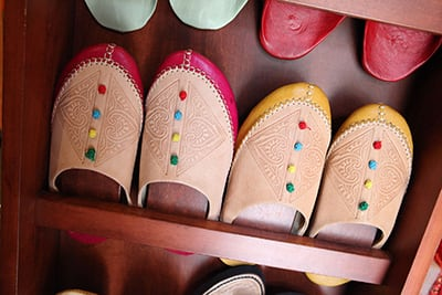 Shoes for sale in Morocco at Epcot at Walt Disney World Resort