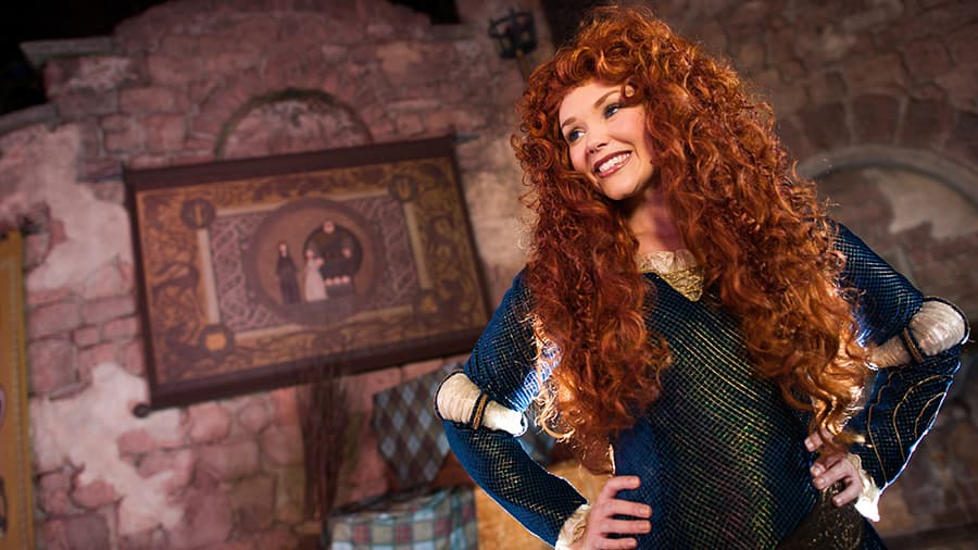 Princess Merida at Edinburgh Castle Port Adventure with Disney Cruise Line