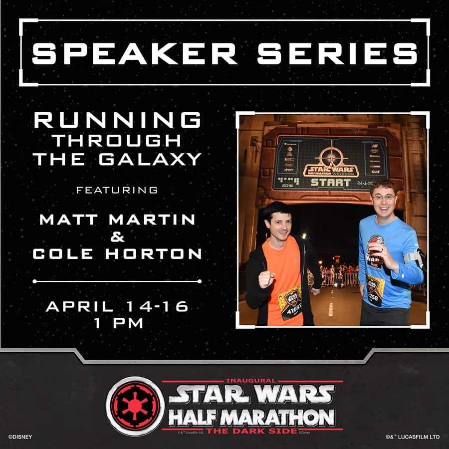 Running Through the Galaxy Speakers Matt Martin and Cole Horton at the Disney Health and Fitness Expo