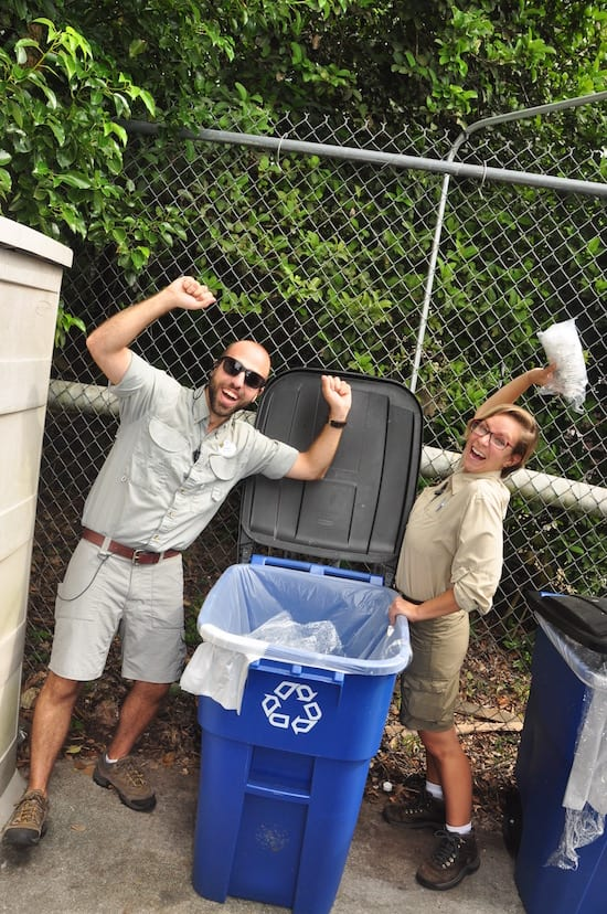 Wild Africa Trek Cast Members Recycle Soft Plastic, Keeping Waste Out of Landfills and Protecting Our Planet.