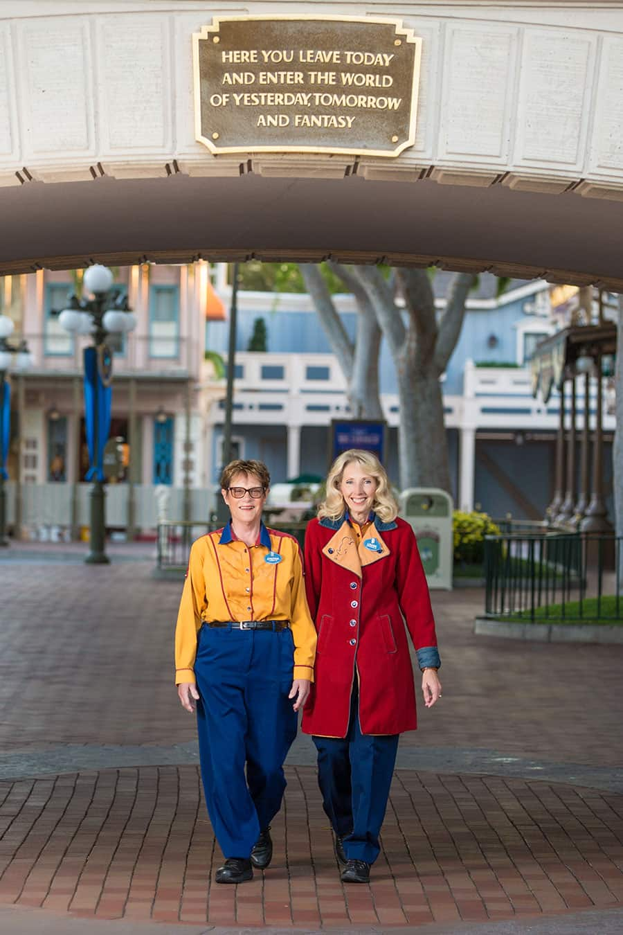 Disneyland Resort Cast Members Louise Stewart and Cindy Vallerga-Brown Have Been Happily Working the Main Entrance Together for 50 Years