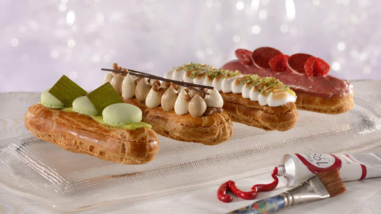 EClaires on a table