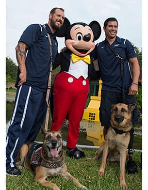 Invictus Participants with Micky Mouse