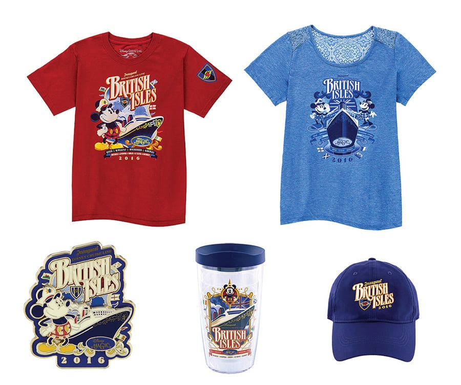 Disney Cruise Line British Isles Merchandise