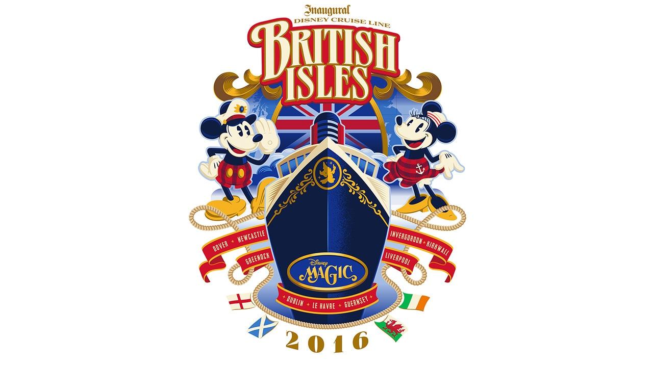 Inaugural Disney Cruise Line British Isles 2016 Logo