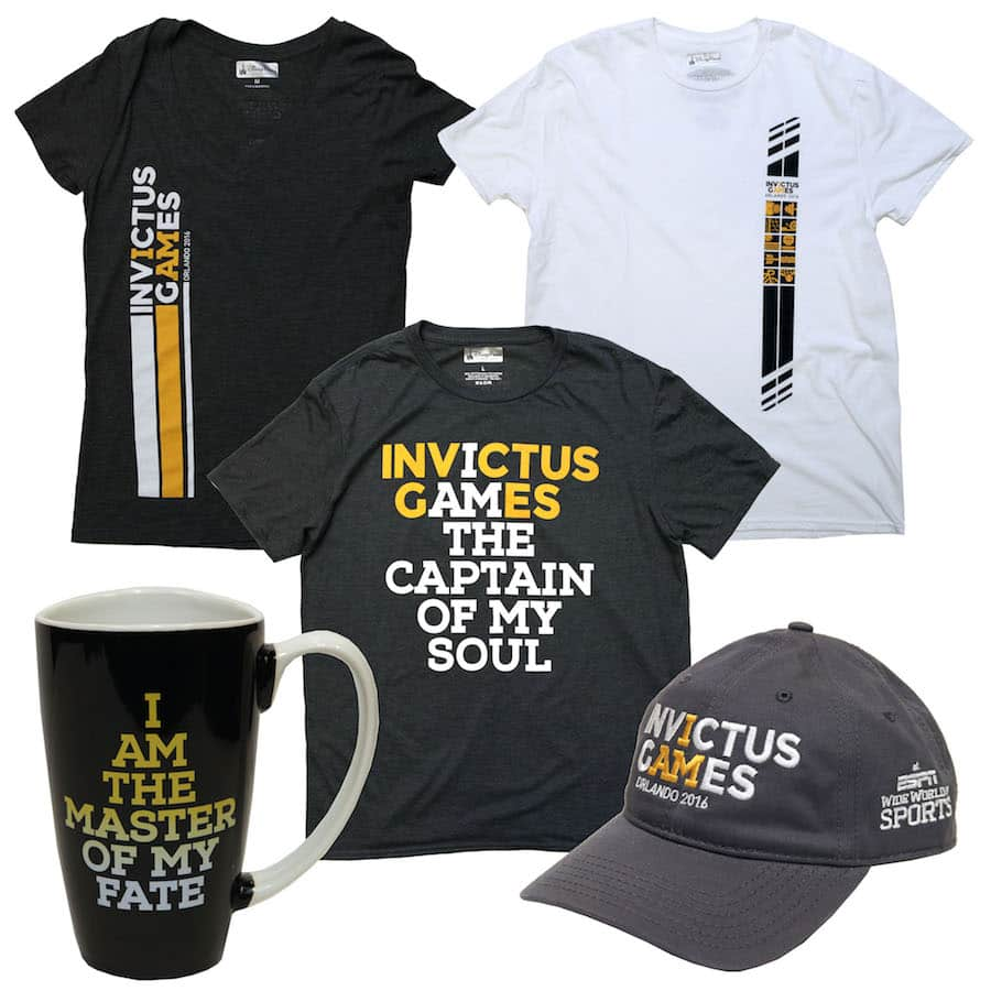 Merchandise Available at the Invictus Games at ESPN Wide World of Sports Complex