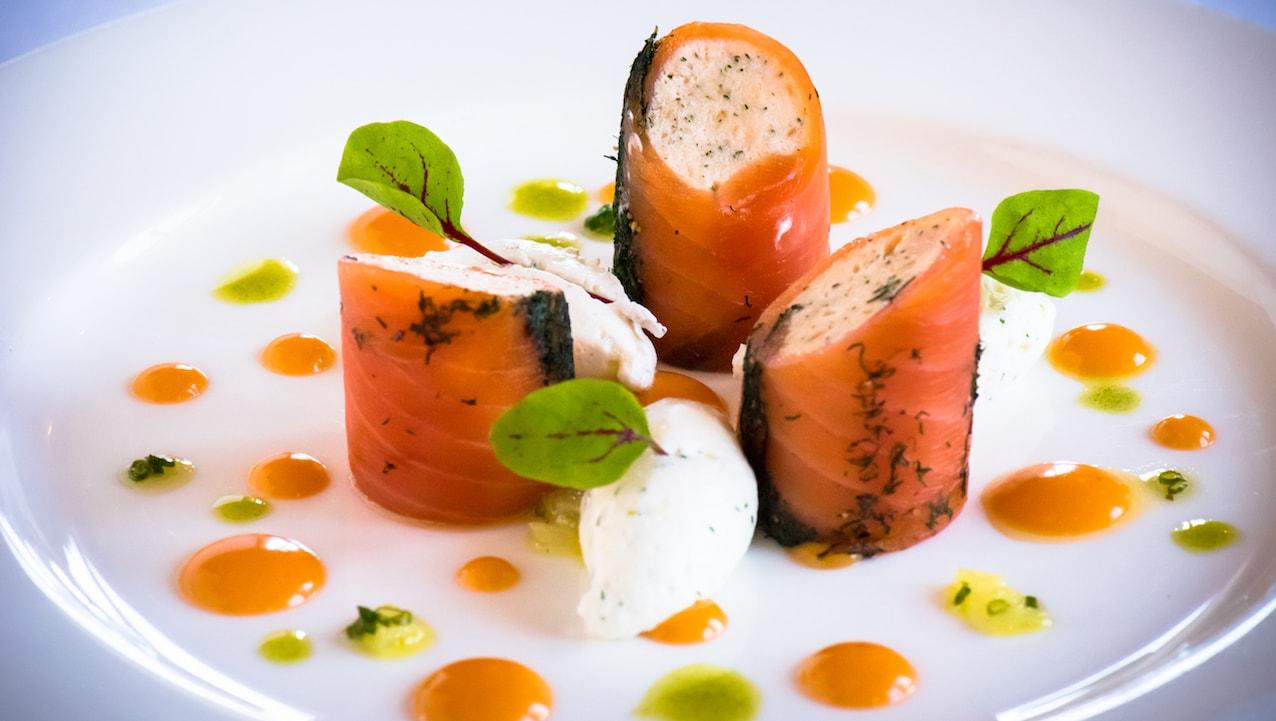 Smoked Salmon at Monsieur Paul at Epcot